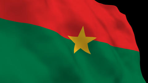 Flag B128 BFA Burkina Faso Stock Video Footage