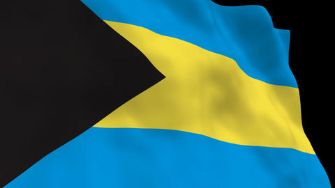 Flag B130 BHS Bahamas Stock Video Footage