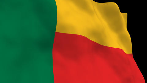Flag B132 BEN Benin Animation