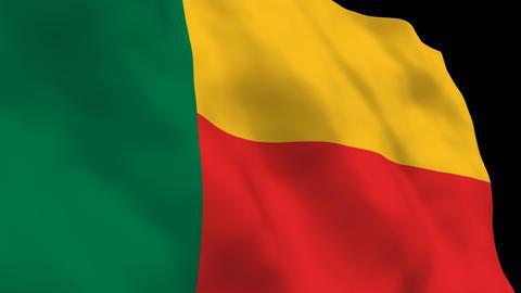 Flag B132 BEN Benin Stock Video Footage
