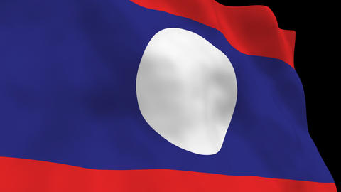 Flag B136 LAO Lao PDR Animation