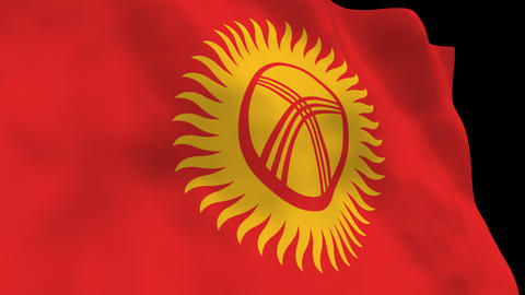 Flag B138 KGZ Kyrgyzst Animation