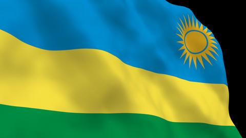 Flag B140 RWA Rwanda Stock Video Footage