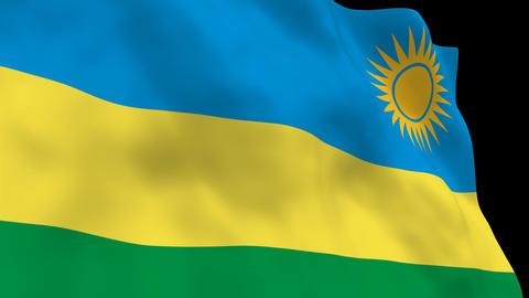 Flag B140 RWA Rwanda Animation