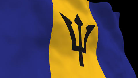 Flag B142 BRB Barbados Animation