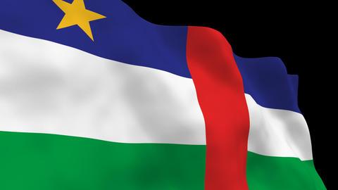 Flag B146 CAF Central African R Animation