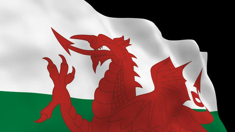 Flag B150 WAI Wales Stock Video Footage