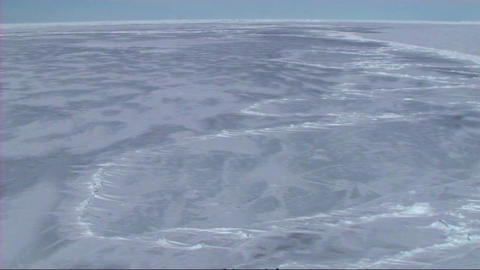 View from a Russian icebreaker Stock Video Footage