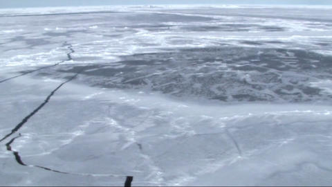 Aerial view of the sea ice on Antarctica Stock Video Footage