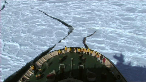 View from a Russian icebreaker Footage