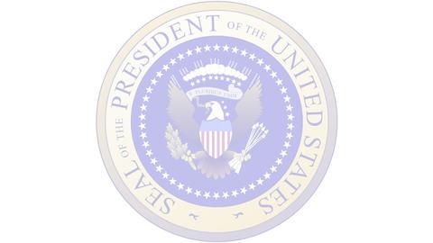 Presidential Seal 03 (25fps) Stock Video Footage