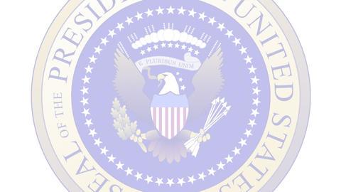 Presidential Seal 04 (24fps) Stock Video Footage