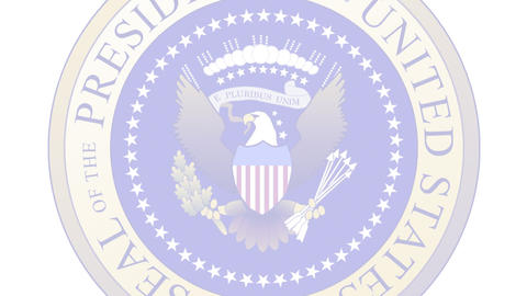 Presidential Seal 04 (30fps) Stock Video Footage