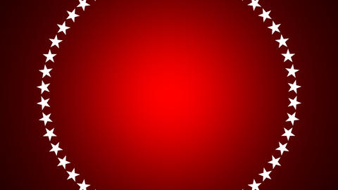 BG ROTATINGSTARS 11 red 24fps Stock Video Footage
