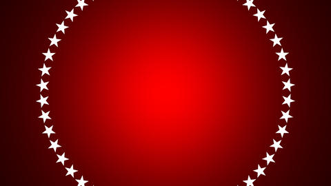 BG ROTATINGSTARS 11 red 30fps Stock Video Footage