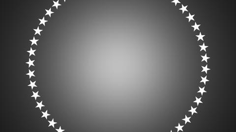 BG ROTATINGSTARS 12 gray 30fps Stock Video Footage