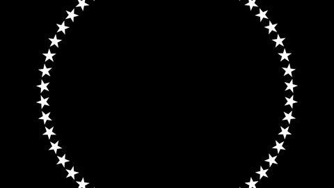 BG ROTATINGSTARS 13 black 25fps Stock Video Footage