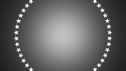 BG ROTATINGSTARS 12 gray 24fps Stock Video Footage