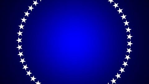 BG ROTATINGSTARS 10 blue 25fps Stock Video Footage