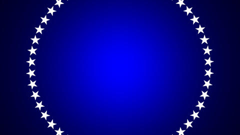 BG ROTATINGSTARS 10 blue 25fps Animation