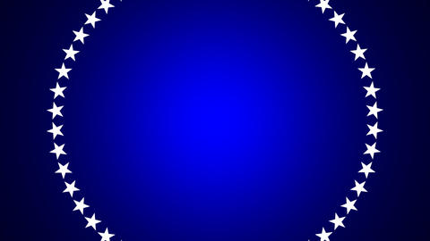 BG ROTATINGSTARS 10 blue 25fps Stock Video Footage