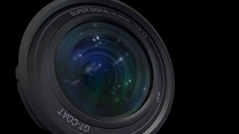 Lens Cen up 2 b ss Stock Video Footage