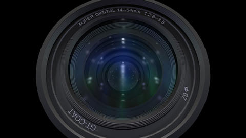 Lens Cen up b ss Stock Video Footage