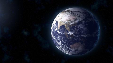 realistic Earth BG focus Asia Stock Video Footage