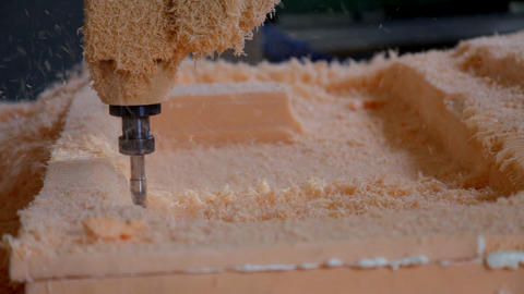 Plastic cutting by drill-machine Stock Video Footage