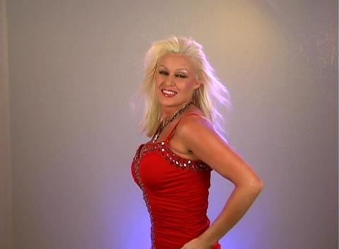 Beautiful Blonde Dancing (1) Stock Video Footage