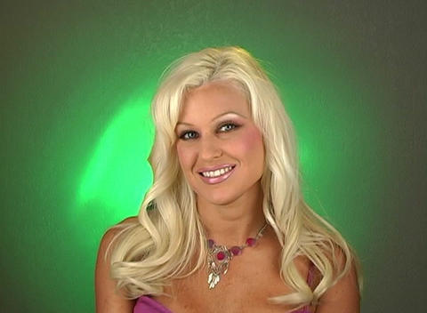 Beautiful Blonde Headshot (1) Stock Video Footage