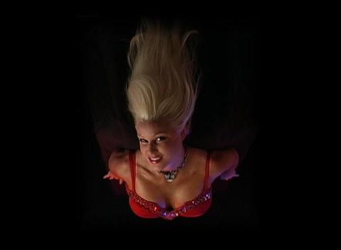Beautiful, Busty Blonde (1) Stock Video Footage