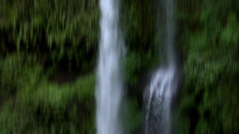 huge indonesia waterfall tilt Stock Video Footage