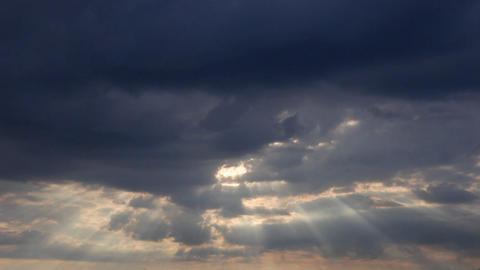 Sunrise clouds 01 Stock Video Footage