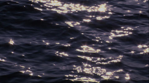 dark wavy deep sea ocean loopable Stock Video Footage