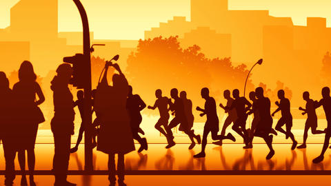 City runners - loopable Animation
