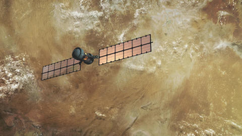 spy satellite in orbit Stock Video Footage