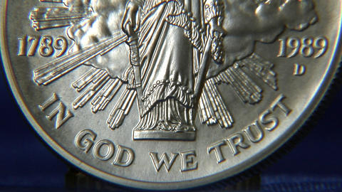 liberty dollar tilt Stock Video Footage