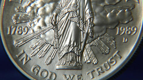 liberty dollar tilt Stock Video Footage