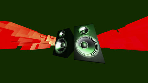 energized speakers Stock Video Footage