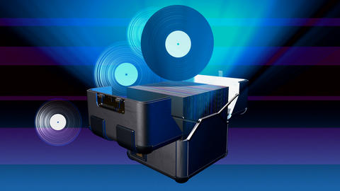 record case Stock Video Footage