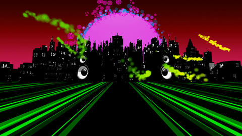 audible city remix1 Stock Video Footage
