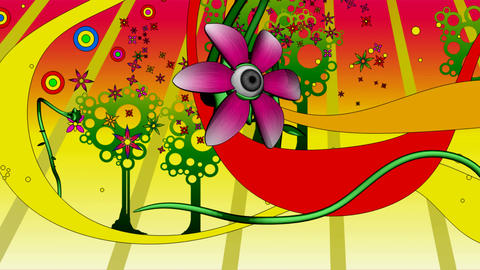 psychedelic flowerland Stock Video Footage