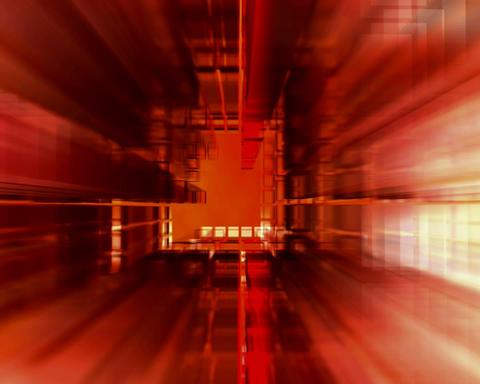 shrinking corridor Stock Video Footage