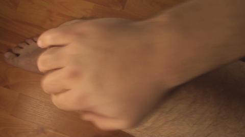 Man Massaging Knee, Knee Injury, Pain, Treatment,  Live Action