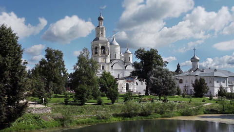 Russian Orthodox Monastery stock footage