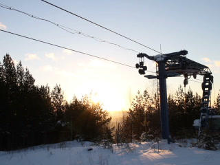 Work Ski Lift. 320x240 stock footage