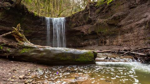 Wasserfall in der Hörschbachschlucht Footage