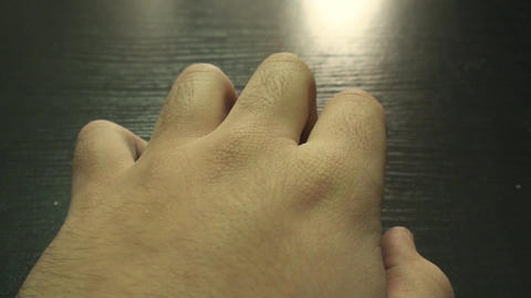 Hand Detail While Waiting For Someone Point Of Vie Footage
