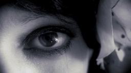 Eye macro woman noir Footage
